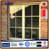 aluminium framed glass sliding window with sliding screen and strong pulley