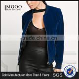 MGOO Never Out Of Fashion Crewneck Zipper Up Jackets Ladies Rib Cuff And Bottom Your Own Tags Bomber Jackets