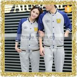 Customized embroidery logo fleece jacket baseball uniform school uniform jacket teens baseball uniform