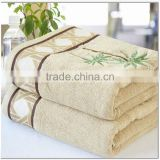 embroiderd bamboo fiber custom extra large size bath towel spa body wrap
