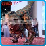 Classical colour walking with dinosaur costume
