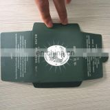 New Design ! Luxury Thanks Card Packing .Printing Green Envelop With Silver Hot Stamping Logo