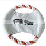 Custom frisbee for dog play Rope frisbee