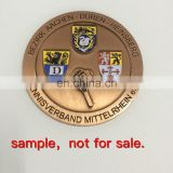 Zinc alloy/iron custom coin antique copper old coin in soft enamel as souvenir or challenge coin