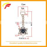 fashion black spider shaped zinc alloy pendant with rhinestone for belt bag and garment
