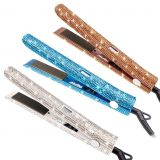 Gorgeous Rhinestone Bling Bling 1 Inch LCD Temperature Display Hair Straightener
