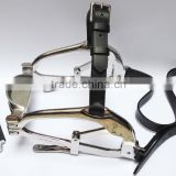 Horse Mouth Gag / Speculum with Genuine Leather Straps - Equine Dental Speculum - Millennium Speculum (High Quality)