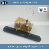 HA7067 black skirt wooden hanger luxury hair extensions hanger                                                                                                         Supplier's Choice