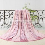 Top quality reasonable price jacquard striped 100% cotton wholesaler terry towel blanket