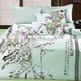 Beatiful and Elegant Chinese Style printed Duvet Cover Set, Oriental Style ink printed flower bedding set                                                                         Quality Choice