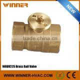Electric Brass Mini 2 Way Ball Valve DN25