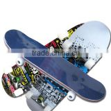 3108AC-10UT5036B flat paint coated aluminum truck chinese maple skateboard with PU wheel
