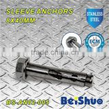 BS-AN02-005 M8 sleeve anchor with flange nut stainless steel 304
