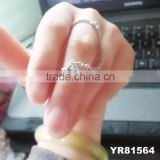 China supplier adujustable linked by chain with finger alloy jewelry ring