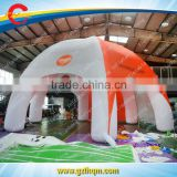white and orange 8legs inflatable spider tent for church, inflatable spider tent with removable walls