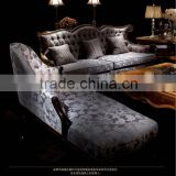Classic hand carved living room furniture antique sectional sofa set with gold foil A15360