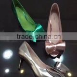 Ladies low heel dress shoes peep toe bowtie china shoe manufacturer private label heels wholesale italian shoes