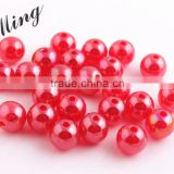 Red Color New 2016 6MM to 20MM Stock Round Acrylic Jelly AB Beads for Chunky Necklace Wholesales Jewelry Paypal accept
