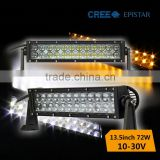 Hotsale 4d 72 watt color changing LED light bar in auto lighting system