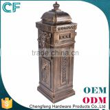 The Most Popular Style In Europe High Level Wrought Aluminiun Free Standing Letter Boxes For Front Doors From China
