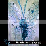 wedding celebration deocration decorative big glitter butterfly with beautiful flower decoration for wedding