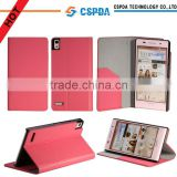 2013 High Quality Slim PU Leather Flip Case Cover For Huawei Ascend P6