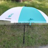 Wholesale Prices Pongee Durable Auto Open Promotional Custom UV Protective Corporate Stick Umbrella