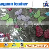 transparent pvc rexine leather with beautiful design studed                                                                         Quality Choice