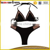 Black and red seamless sling bikini ladies sexy extreme micro string bikini                                                                                                         Supplier's Choice