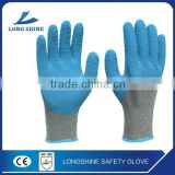 Top 3/4 HPPE Palm Coated with Blue Micro-foam Latex Coated Safety Working Glove for Hand Protective