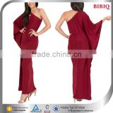 chiffon cape dress fancy dress red cape gown kimono maxi long sleeve dress red one shoulder cocktail dresses