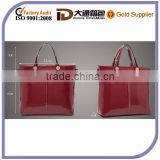 New Design PU Leather Women Lady Short Handle Fashion Handbag Korea The Most Popular Tote Promotional Messenger Bag