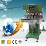 Made in China high quailty 6-colors open ink well pad printing machine with flame treatment for bottle caps for LC-SPM6-150-20