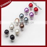 Fashion round pearl head scarf magnetic hijab pins/                                                                                                         Supplier's Choice