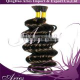 best quality natural black color soft silky virgin remy bulk hair,virgin remy hair, remy human hair