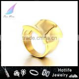 ebay china website hot selling in European market stainless steel fancy gold ring designs