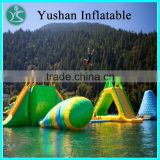 Funny and popular inflatable floating water park inflatable water island giant inflatable water toys