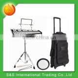 musical instrument bag for Student Bell Kit with Rolling Roller Case Practice Pad Mallets