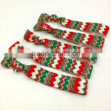 Christmas Hair Band Green White Red Fold Elastic Ribbon Hair Tie Wholesale