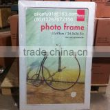 cheap large clip frame frameless bicycle picture photo frame for home and hotel decoration