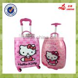 2015 China Supplier ABS Kid Travel Trolley Luggage, Cartoon Cute Kids School Bags Kids Luggage