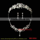 new design wedding jewelry sets full crystal tiaras set necklace earrings sets new full wedding set