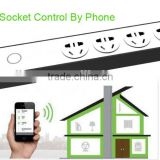 Wifi remote control extension sockets 2000W 10A 4 sockets switches timing smart power strip