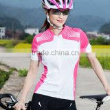 Top quality blank sublimation jerseys and bike wear cycling or sport suit women with low prices accept OEM servise