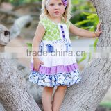 2016 new design short sleeve summer wear kids cotton frocks design wholesale baby clothes