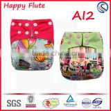 newest and hot sale one size baby cloth diaper baby diaper newborn aio cloth diaper Happy Flute