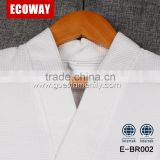 100% cotton cheap white waffle mens hotel bathrobe