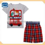 Summer best children casual types of cothes cotton baby outfits for boys(CD4745)
