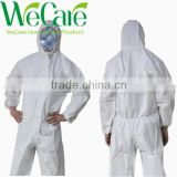 disposable nonwoven white protective overall workwear disposable coverall suit