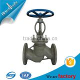 pn16 pn40 Casted iron hand wheel Globe valve for oil and gas industry